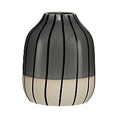 Ben de Lisi Home - Grey striped small vase