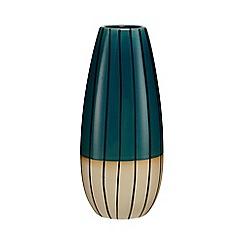 Ben de Lisi Home - Green striped tall vase