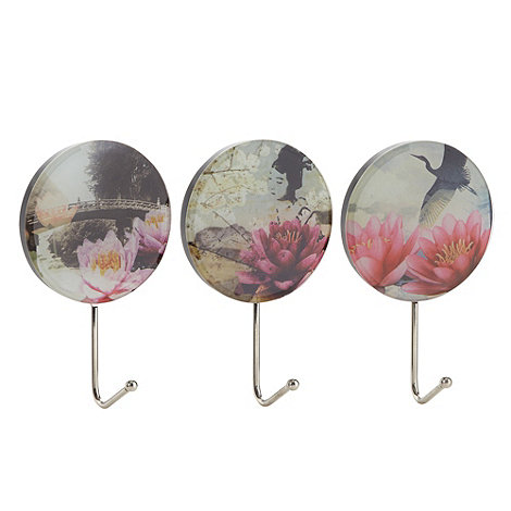 Butterfly Home by Matthew Williamson - Designer set of three photographic printed wall hooks