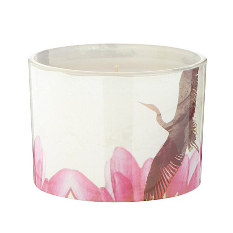 Butterfly Home by Matthew Williamson - Designer pink large lotus printed votive