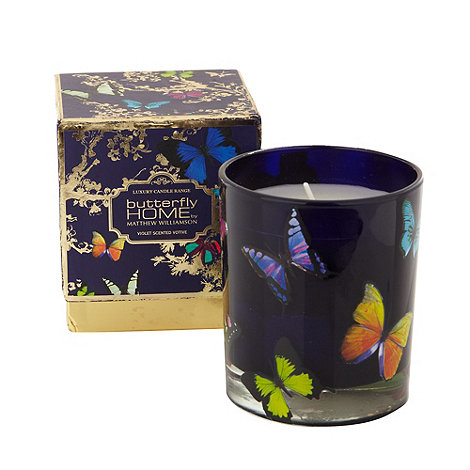 Butterfly Home by Matthew Williamson - Designer violet scented votive candle
