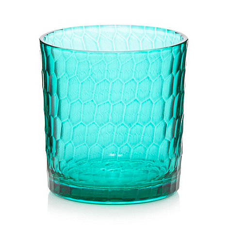 Butterfly Home by Matthew Williamson - Designer turquoise glass honeycomb candle holder