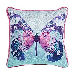 Butterfly Home by Matthew Williamson - Designer aqua butterfly print cushion