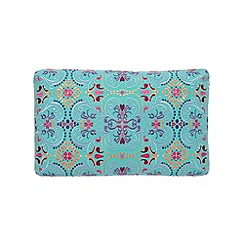 Butterfly Home by Matthew Williamson - Designer turquoise scroll embroidery cushion