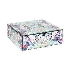 Butterfly Home by Matthew Williamson - Designer purple peacock print square box