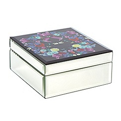 Butterfly Home by Matthew Williamson - Designer purple glass wreath print box