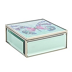 Butterfly Home by Matthew Williamson - Designer green glass butterfly print box