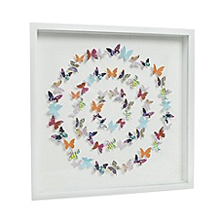 Butterfly Home by Matthew Williamson - Designer white paper butterfly wall art