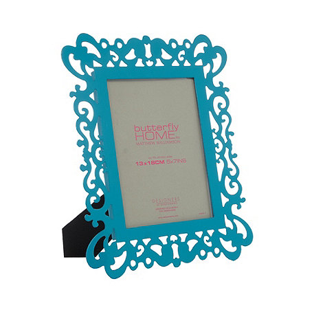 Butterfly Home by Matthew Williamson - Designer turquoise metal cutout photo frame