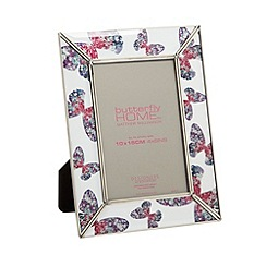 Butterfly Home by Matthew Williamson - Designer glass butterfly print 4 x 6 inch photo frame