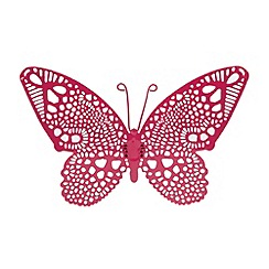 Butterfly Home by Matthew Williamson - Designer small pink butterfly wall decoration