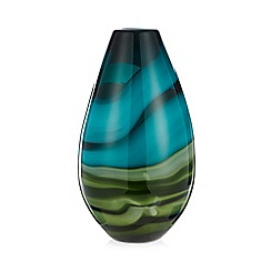 Butterfly Home by Matthew Williamson - Designer green glass swirl bullet vase