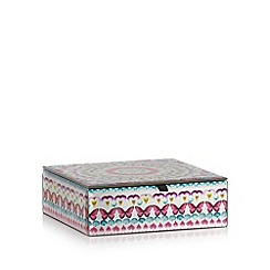 Butterfly Home by Matthew Williamson - Designer pink glass kaleidoscopic butterfly storage box