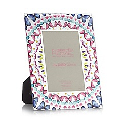 Butterfly Home by Matthew Williamson - Designer pink glass kaleidoscopic butterfly 4 x 6 inch photo frame