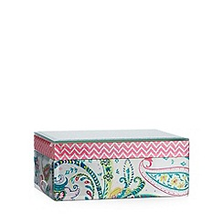 Butterfly Home by Matthew Williamson - Designer green glass paisley storage box