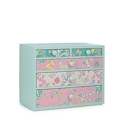 Butterfly Home by Matthew Williamson - Turquoise butterfly print drawer unit