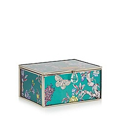 Butterfly Home by Matthew Williamson - Designer green glass peacock small storage box