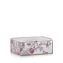 Butterfly Home by Matthew Williamson - Designer pink metal peacock medium storage box