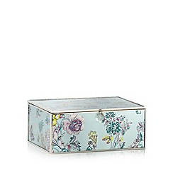 Butterfly Home by Matthew Williamson - Designer green metal peacock large storage box