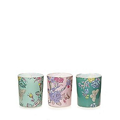 Butterfly Home by Matthew Williamson - Designer set of three floral peacock candles