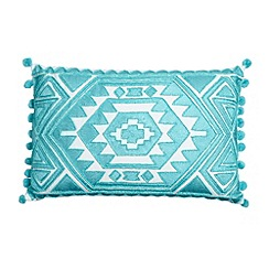 Butterfly Home by Matthew Williamson - Designer turquoise beaded aztec cushion