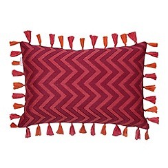 Butterfly Home by Matthew Williamson - Designer pink zig zag knit cushion