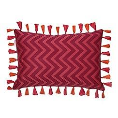 Butterfly Home by Matthew Williamson - Designer pink zig zag knit cushion