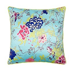 Butterfly Home by Matthew Williamson - Designer aqua large birds cushion