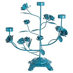 Butterfly Home by Matthew Williamson - Designer blue metal candelabra