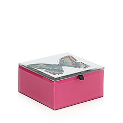 Butterfly Home by Matthew Williamson - Designer pink glass butterfly box