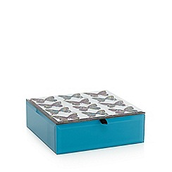 Butterfly Home by Matthew Williamson - Designer blue butterfly glass box