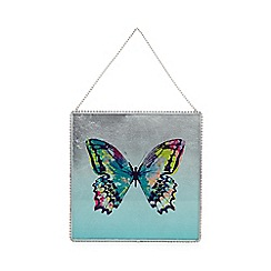 Butterfly Home by Matthew Williamson - Designer aqua butterfly wall art