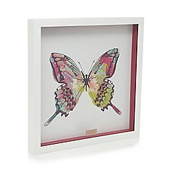Butterfly Home by Matthew Williamson - Designer white butterfly print wall art