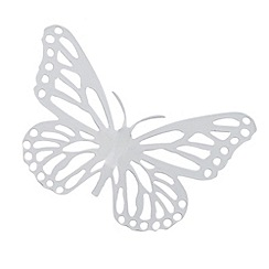 Butterfly Home by Matthew Williamson - Designer white metal cutout butterfly