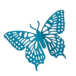 Butterfly Home by Matthew Williamson - Designer turquoise metal cutout butterfly