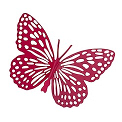 Butterfly Home by Matthew Williamson - Designer pink metal cutout butterfly