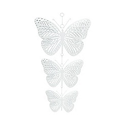 Butterfly Home by Matthew Williamson - Designer set of three white hanging butterflies