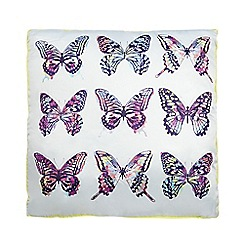 Butterfly Home by Matthew Williamson - Designer grey butterfly cushion