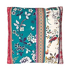 Butterfly Home by Matthew Williamson - Designer pink patchwork garden cushion