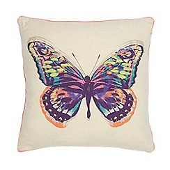 Butterfly Home by Matthew Williamson - Natural butterfly cushion