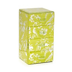 Butterfly Home by Matthew Williamson - Lime tropical print jewellery box