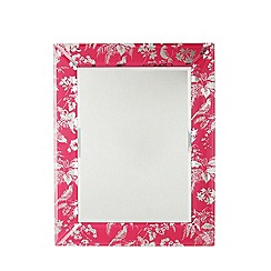 Butterfly Home by Matthew Williamson - Pink tropical framed mirror