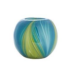 Butterfly Home by Matthew Williamson - Blue and green swirl bowl vase