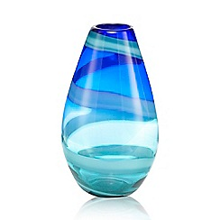 Butterfly Home by Matthew Williamson - Dark blue swirl bullet vase
