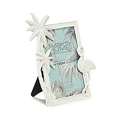Butterfly Home by Matthew Williamson - White palm tree photo frame