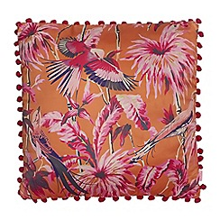 Butterfly Home by Matthew Williamson - Orange bird print cushion