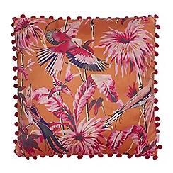 Butterfly Home by Matthew Williamson - Orange bird print cushion