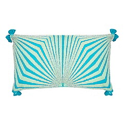 Butterfly Home by Matthew Williamson - Light green embellished cushion