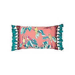 Butterfly Home by Matthew Williamson - Pink bird applique cushion