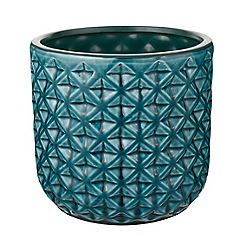 Butterfly Home by Matthew Williamson - Green ceramic large plant pot